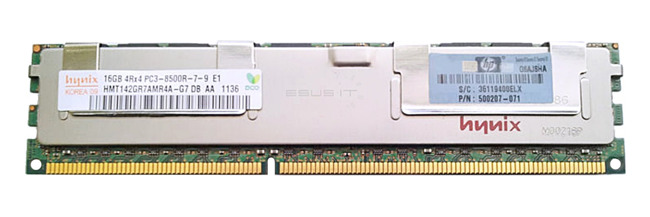 Memory RAM 1x 16GB Hynix ECC REGISTERED DDR3  1066MHz PC3-8500 RDIMM   HMT142GR7AMR4A-G7