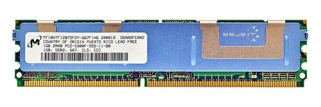 Memory RAM 1x 1GB Micron ECC FULLY BUFFERED DDR2 667MHz PC2-5300 FBDIMM   MT18HTF12872FDY-667F1N6