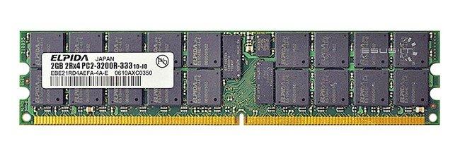 Memory RAM 1x 2GB ELPIDA ECC REGISTERED DDR2  400MHz PC2-3200 RDIMM | EBE21RD4AEFA-4A-E