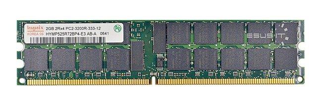 Memory RAM 1x 2GB Hynix ECC REGISTERED DDR2  400MHz PC2-3200 RDIMM | HYMP525R72BP4-E3