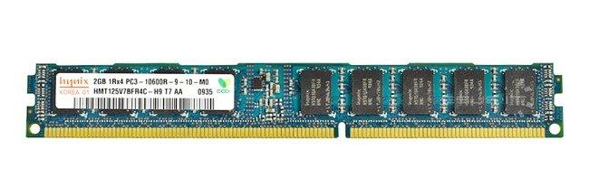 Memory RAM 1x 2GB Hynix ECC REGISTERED DDR3  1333MHz PC3-10600 RDIMM | HMT125V7BFR4C-H9