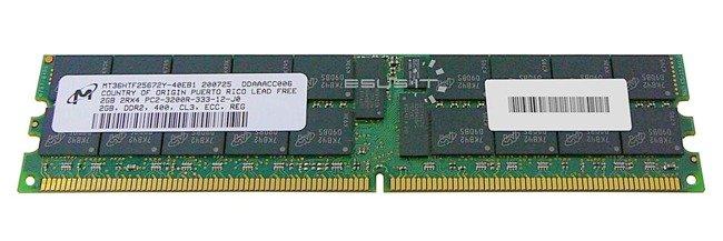 Memory RAM 1x 2GB Micron ECC REGISTERED DDR2  400MHz PC2-3200 RDIMM | MT36HTF25672Y-40EB1