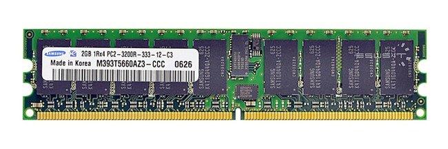 Memory RAM 1x 2GB Samsung ECC REGISTERED DDR2  400MHz PC2-3200 RDIMM | M393T5660AZ3-CCC