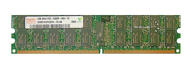 Memory RAM 1x 4GB Hynix ECC REGISTERED DDR2  667MHz PC2-5300 RDIMM | HYMP151P72CP4-Y5
