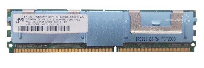 Memory RAM 1x 4GB Micron ECC FULLY BUFFERED DDR2 667MHz PC2-5300 FBDIMM   MT36HTF51272FY-667