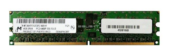 Memory RAM 1x 4GB Micron ECC REGISTERED DDR2  800MHz PC2-6400 RDIMM   MT36HTF51272PY-80EH1