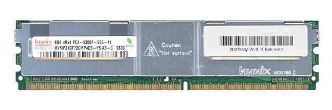 Memory RAM 1x 8GB Hynix ECC FULLY BUFFERED DDR2 667MHz PC2-5300 FBDIMM | HYMP31GF72CMP4D5-Y5